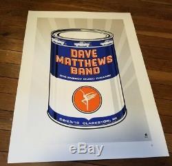Dave Matthews Band poster DTE Clarkston MI 2010 Methane Studios