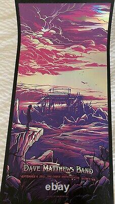 Dave Matthews Band poster FOIL Gorge Triptych 2021 N2, Middle Piece. Very Rare