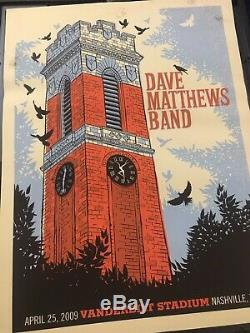 Dave Matthews Band poster Nashville 2009