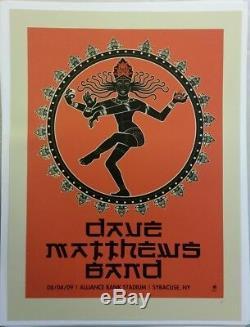Dave Matthews Band poster Syracuse NY 2009 Methane Studios AP MINT CONDITION