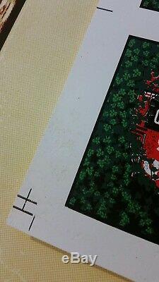 Dave Matthews Band poster Uncut Wrigley handbill sheet Methane Studios RARE