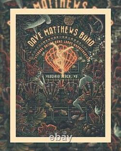 Dave Matthews Band poster Virginia Beach 2021