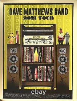 Dave Matthews Band tour Poster 2021 concert dmb limited edition yellow variant