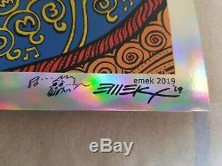 Dave Matthews Emek Hershey 2004 foil doodled signed embossed 2nd printing