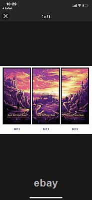 Dave Matthews Gorge 2021 Triptych Set