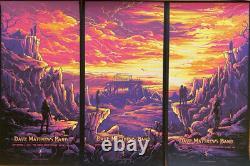 Dave Matthews Gorge 2021 complete triptych poster set (Nights 1,2,3)