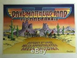Dave Matthews Original Artwork Randy Tuten 1995 Mesa Az Poster Fillmore Awesome