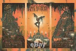 Dave Matthews Reynolds Cancun Mexico Triptych Poster SET N1 N2 & N3 Firedancer