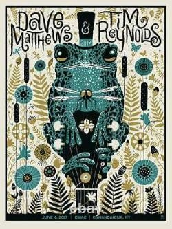Dave Matthews Tim Reynolds 6/4/2017 Poster CMAC Canandaigua NY Signed A/P