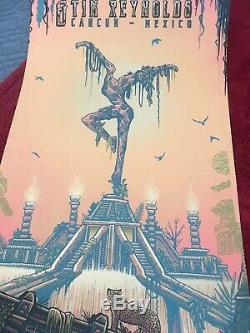 Dave Matthews Tim Reynolds DMB Cancun Mexico Poster FOIL SET IN HAND MINT