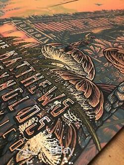 Dave Matthews Tim Reynolds GOLD FOIL (#1/20) Triptych Cancun Mexico 2020