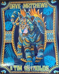 Dave Matthews Tim Reynolds Rainbow FOIL Poster Cancun Mexico 32/50 Bioworkz sig