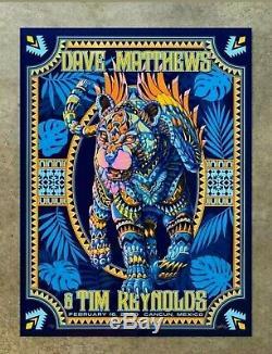 Dave Matthews Tim Reynolds Rainbow Foil Poster Cancun Mexico 2/16/20 x/50