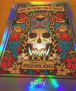 Dave Matthews Tim Reynolds Riviera Maya Mexico 2019 N1 Methane Foil Variant Rare
