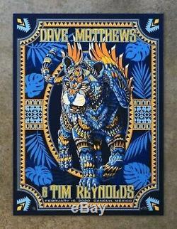 Dave Matthews and Tim Reynolds DMB Cancun Mexico Reg Poster 2/16 Bioworkz #25/50