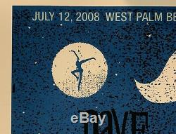 Dave Matthews band poster west palm beach concert dmb 2008 tour cruzan amp