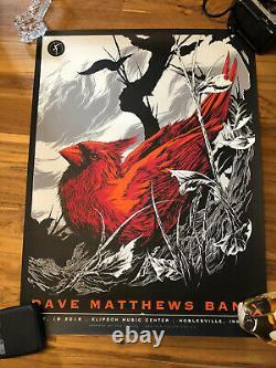 Dave matthews band poster Noblesville Deer Creek 7/18/15