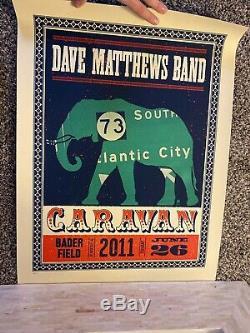 Dave matthews poster 2011 Badger Field