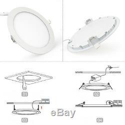 Dimmable 6With9With12With15With18With21W LED Panel Lampe Deckenleuchte Einbau Strahler