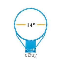 DunnRite Clear Hoop Jr. Pool Basketball Game Set with 1.9 Post DMB190