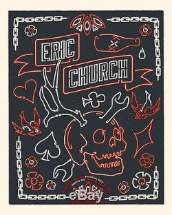Eric Church 1/10/15 Poster Nashville, TN Signed & Numbered #/100