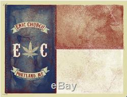 Eric Church 3/1/2012 Poster Portland ME Signed & Numbered #/118 Rare