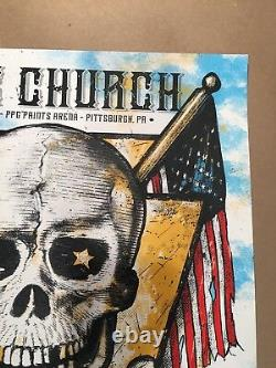 Eric Church 4/21/17 Poster Pittsburgh PA Signed AE #/26 PPG Prints Arena