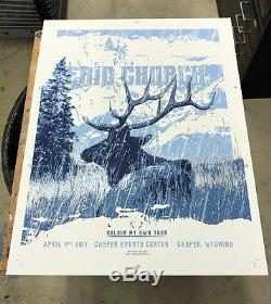 Eric Church 4/4/17 Poster Casper WY Signed & Numbered Artist Edition #/34