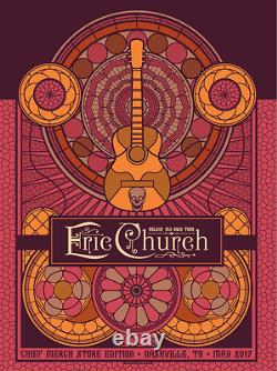 Eric Church 5/26-27/2017 Poster Matching Set Nashville TN Signed & Numbered #/60
