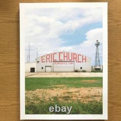Eric Church Desperate Man Poster Church Choir Exclusive Signed & Numbered #/300