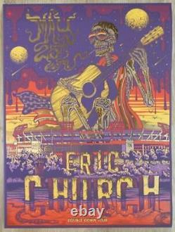 Eric Church Poster Nissan Stadium Nashville, TN 2019 Chief GOLD FOIL