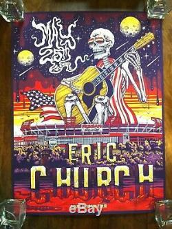 Eric Church Poster Set Nissan Stadium Nashville, TN 2019 Chief Pop-up Shop