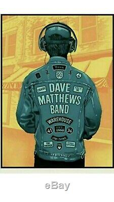 Exclusive Dave Matthews Band DMB Warehouse 20th Anniversary Methane Poster