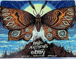 FOIL Dave Matthews Band Charlotte NC Poster 7/24/21 Butterfly Jeff Soto LE 100