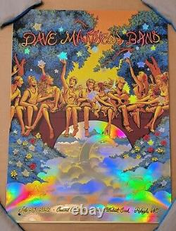 FOIL poster in hand, can ship tomorrow! Dave Matthews Band Raleigh NC 2021 Flame