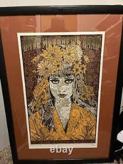 FRAMED DAVE MATTHEWS BAND 7/2/2016 Alpine Valley poster by Chuck Sperry Signed