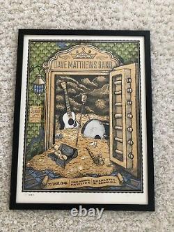 FRAMED Dave Matthews Band Poster Charlotte North Carolina 2014