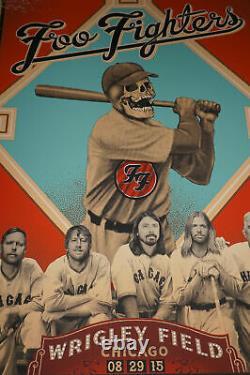 Foo Fighters 2015 Emek poster print Wrigley Field Chicago, IL
