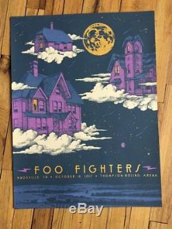 Foo Fighters Poster 10/18/2017 Knoxville TN Signed & Numbered #/60 A/E