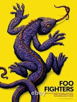 Foo Fighters Poster 4/19/2018 The Woodlands TX Signed & Numbered #/70 A/E