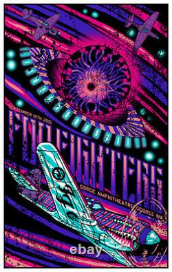 Foo Fighters Poster 9/11-12/2015 Gorge Amp WA Signed & Numbered Set #/106 A/E