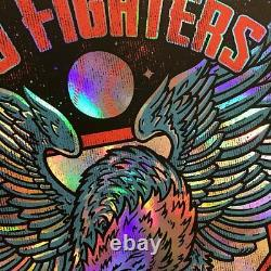 Foo Fighters Poster Wrigley Field Chicago, IL 7/30/18 Rainbow Foil Variant