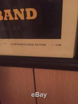 Framed Dave Matthews Band concert poster Gorge amphitheatre 9/1/13