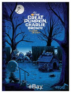 It's The Great Pumpkin Charlie Brown Poster Signed & Numbered #/280 18x24