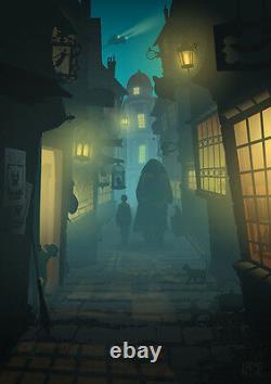Kevin Wilson Harry Potter Diagon Alley Poster Print 21 x 28 Mondo Ape Meets Girl