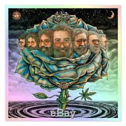 MINT IN HAND EMEK Jerry Garcia 2020 Bicycle Day Ice Blue Rose Variant XX/25