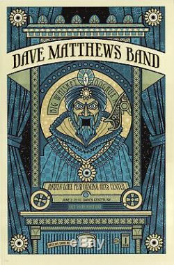 MINT & SIGNED Dave Matthews Band 2010 Darien Lakes Methane Poster 111/400