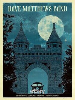 MINT & SIGNED Dave Matthews Band 2010 Hartford Methane Poster 54/540