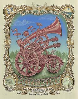 MINT & SIGNED EMEK 2008 Phil Lesh DMB Panic Phish Rothbury Poster 93/100