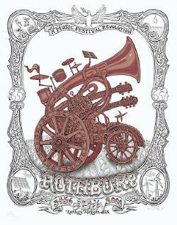 MINT & SIGNED EMEK 2008 Phil Lesh DMB Panic Phish Rothbury VARIANT Poster 13/15
